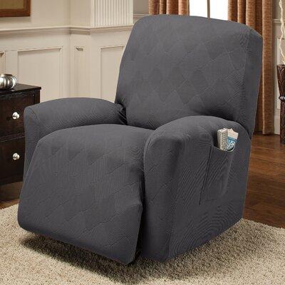 Madden Recliner Slipcover Upholstery: Gray