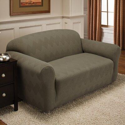 Levine Box Cushion Loveseat Slipcover Upholstery: Sage