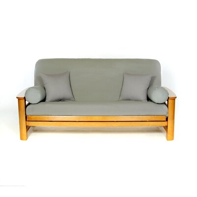 Box Cushion Futon Slipcover Upholstery: Smoke