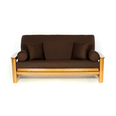 Futon Slipcover Upholstery: Brown