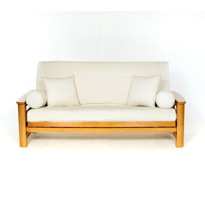 Box Cushion Futon Slipcover Upholstery: Natural