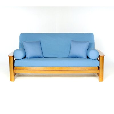 T-cushion Cotton Futon Slipcover Upholstery: Bluebonnet