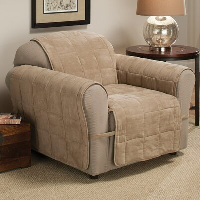 Duvig Armchair Box Cushion Slipcover Upholstery: Natural