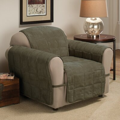Duvig Armchair Box Cushion Slipcover Upholstery: Sage