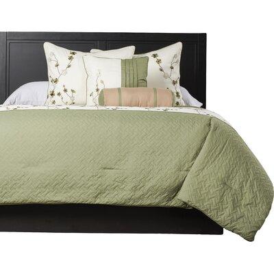 Kibbe 5 Piece Comforter Set Size: King, Color: Green