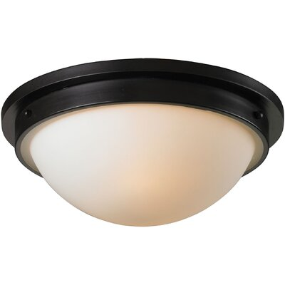 Mcginnis 2-Light Flush Mount Finish: Oiled Bronze