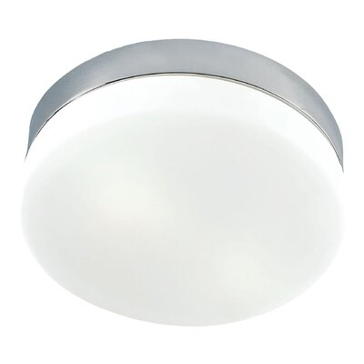 Lewin Architects 1-Light Flush Mount Finish: Satin Nickel