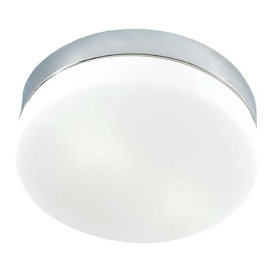 Lewin Architects 1-Light Flush Mount Finish: Chrome