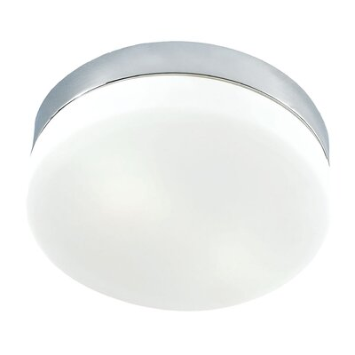 Lipsky 1-Light Flush Mount Finish: Chrome