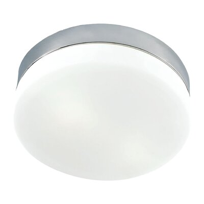 Lipsky 1-Light Flush Mount Finish: Satin Nickel
