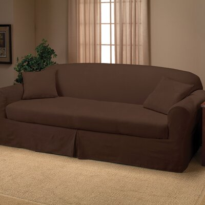 Goliath Sofa Slipcover Upholstery: Chocolate