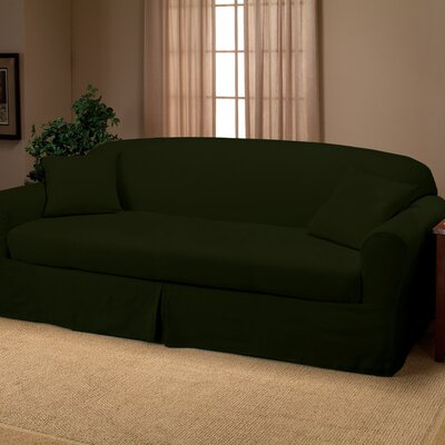 Goliath Box Cushion Sofa Slipcover Upholstery: Forest
