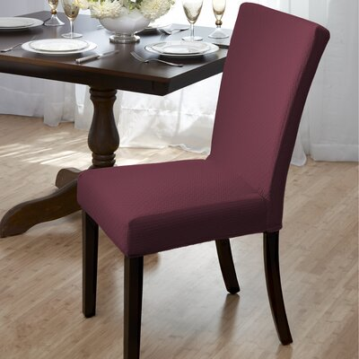 Dining Room Chair Slipcover Upholstery: Burgundy