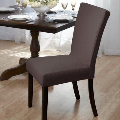Dining Room Chair Slipcover Upholstery: Brown