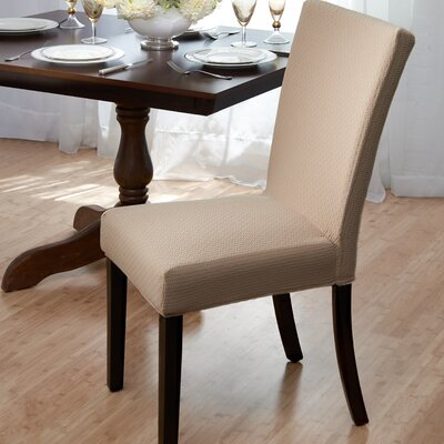 Dining Room Chair Slipcover Upholstery: Beige