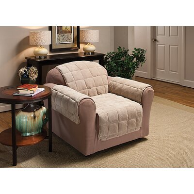 Burnham Box Cushion Armchair Slipcover Color: Cream