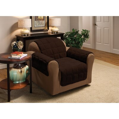 Burnham Box Cushion Armchair Slipcover Color: Chocolate