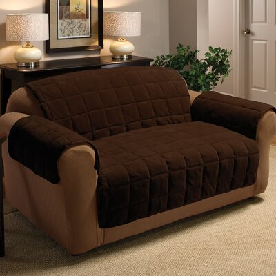 Burnham Black Birch Sofa Slipcover Upholstery: Chocolate