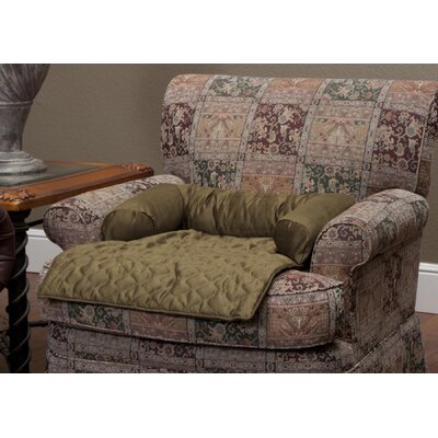 Commons Bolstered Furniture Protector Size: Large (6 H x 46 W x 26 L), Upholstery: Cocoa