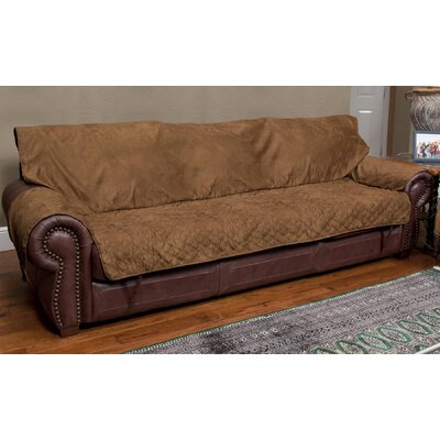 Commons Full-Fit T-Cushion Sofa Slipcover Upholstery: Cocoa