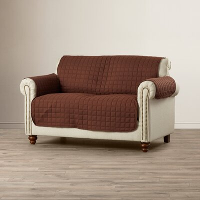 Loveseat Cover Upholstery: Chocolate