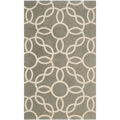 Beyers Hand-Loomed Gray/Ivory Area Rug Rug Size: Rectangle 5 x 8