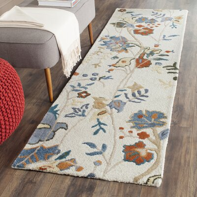 Black Raven Hand-Tufted Red/Blue Area Rug Rug Size: Square 6