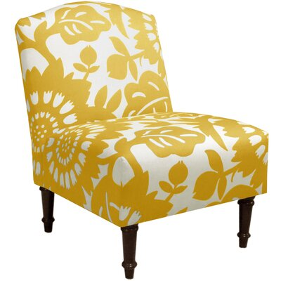 Springdale Camel Back Slipper Chair Upholstery: Gerber Sungold, Nailhead Detail: No Trim