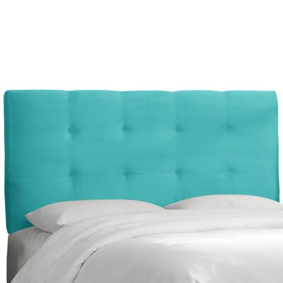 Freudenburg Upholstered Panel Headboard Upholstery: Premier Azure, Size: King