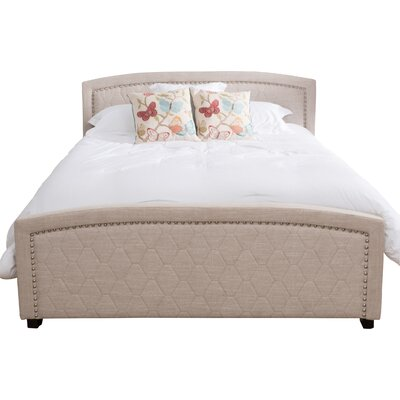Midnight Sun Upholstered Panel Bed Size: California King