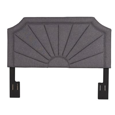 Heileman Upholstered Panel Headboard Finish: Hayden Silver, Size: King