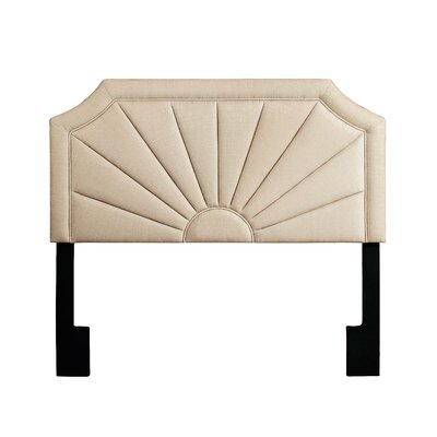Heileman Upholstered Panel Headboard Finish: Tux Putty, Size: King