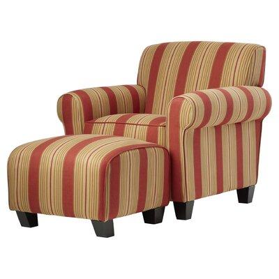 Raven Armchair and Ottoman Upholstery: Cabana Crimson