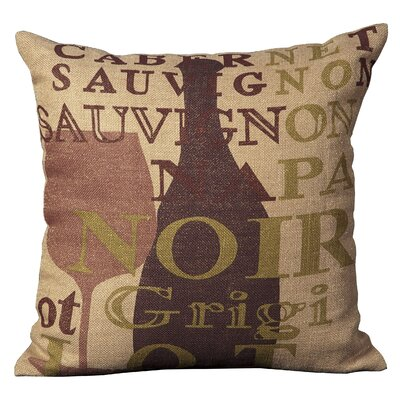 City Steam Jute Throw Pillow