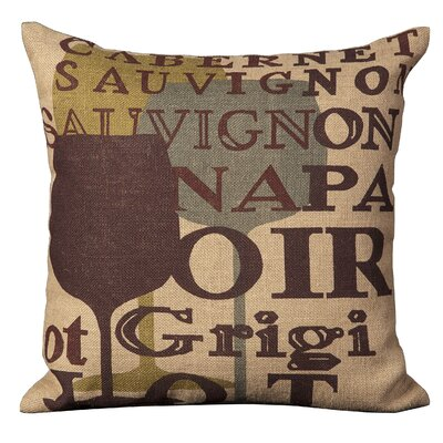 Clos Du Val Jute Throw Pillow