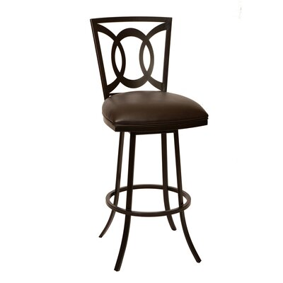 Chuckanut 26 Swivel Bar Stool Upholstery: Coffee