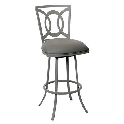 Chuckanut 30 Swivel Bar Stool Upholstery: Gray