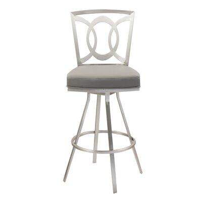 Chuckanut 26 Swivel Bar Stool Upholstery: Gray