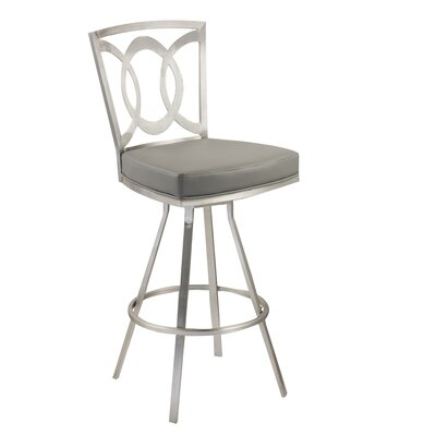 Chuckanut 30 Swivel Bar Stool Upholstery: Gray