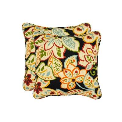 Burr Flower Toss Outdoor Throw Pillow