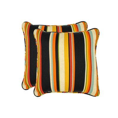 Monroeville Stripe Outdoor Throw Pillow