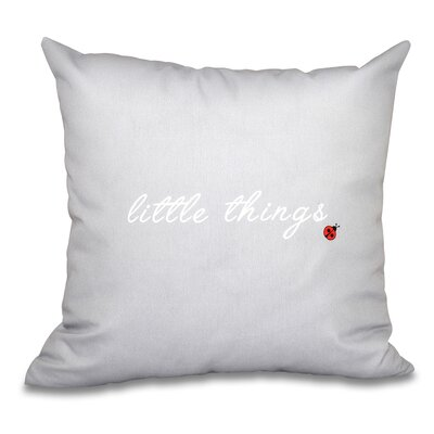 Scotland Little Things Throw Pillow Size: 16 H x 16 W, Color: Gray