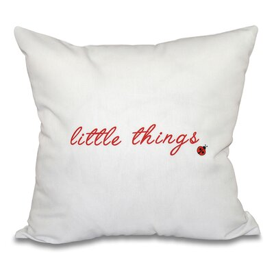 Scotland Little Things Throw Pillow Size: 18 H x 18 W, Color: Red