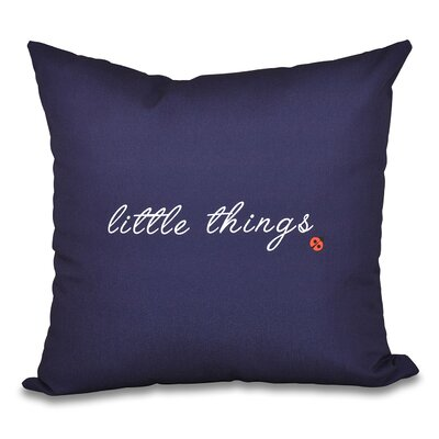 Scotland Little Things Throw Pillow Size: 16 H x 16 W, Color: Navy Blue