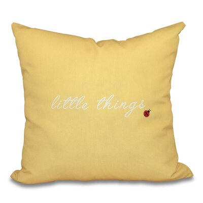 Scotland Little Things Throw Pillow Size: 26 H x 26 W, Color: Yellow
