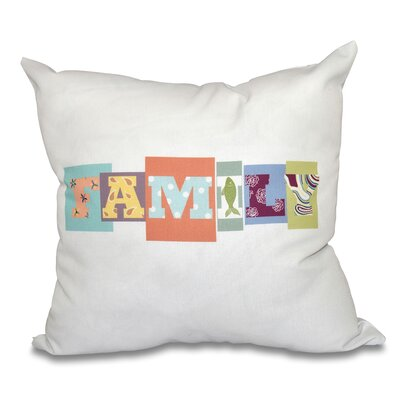 Scotland Family Fun Throw Pillow Size: 26 H x 26 W, Color: Dark Coral
