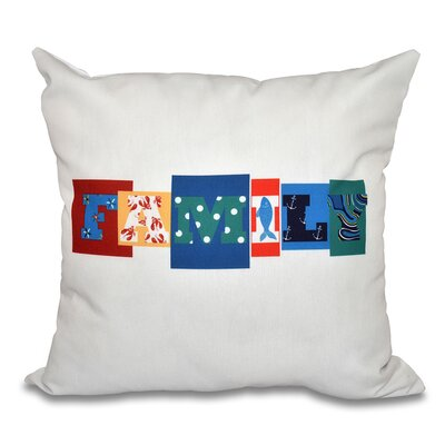 Scotland Family Fun Throw Pillow Color: Blue, Size: 18 H x 18 W