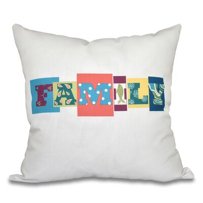 Scotland Family Fun Throw Pillow Size: 18 H x 18 W, Color: Light Coral