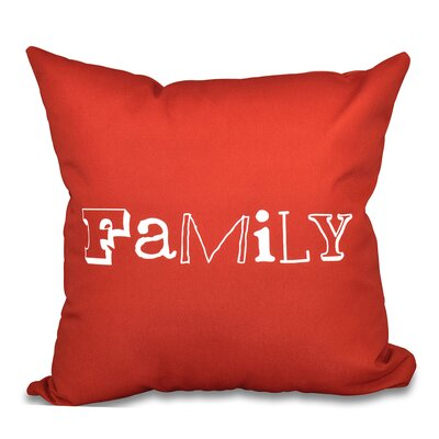 Scotland Home Throw Pillow Size: 26 H x 26 W, Color: Coral