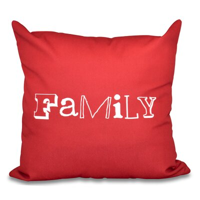 Scotland Home Throw Pillow Size: 16 H x 16 W, Color: Red